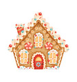a cute christmas gingerbread house vector image