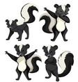 a set of skunk vector image