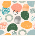 abstract artistic seamless pattern with trendy vector image