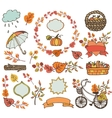 Autumn leaves branchesPlant harvest decorations vector image vector image