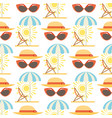 beach accessories summer hats sun fashion vector image