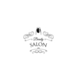 Beauty Salon Label Nail Manicure Badge Filigree vector image