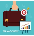 Business management graphic vector image vector image