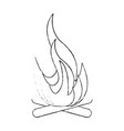 camping bonfire isolated vector image vector image