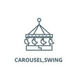 carouselswing line icon carouselswing vector image vector image