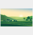 Cartoon Farm design background vector image vector image