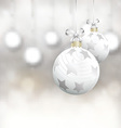 christmas baubles 0710 vector image vector image