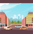city street intersection vector image vector image