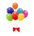 Color Glossy Balloons Background vector image vector image