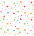 colorful seamless pattern of falling snowflakes vector image vector image