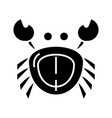 crab icon black sign on vector image