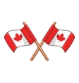 Crossed Canada flags icon cartoon style vector image vector image
