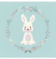 cute baby bunny rabbit in christmas flower
