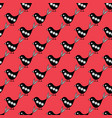 cute birds in folk art style on a bright red vector image vector image