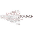 dyspepsia word cloud concept vector image