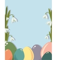 Easter frame with easter eggs Decorative frame vector image vector image