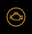 engine car check icon car dashboard engine vector image