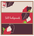 fall leaf banners autumn in bright foliage vector image vector image