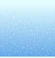 falling snow on the blue background vector image vector image