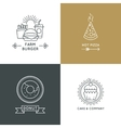 Fast food restaurant and cafe logo set in vector image vector image