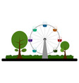 ferris wheel on a park vector image vector image