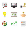 flat icon incoming set of document interchange vector image vector image