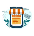 flat style online shopping vector image