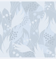 floral seamless background pattern made of hand vector image vector image