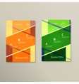 Futuristic abstract design with geometric shapes vector image