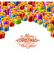 gift collage cover merry christmas vector image