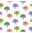 girls in carnival costume seamless pattern vector image vector image