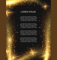 golden glittering magic sparkle poster vector image vector image