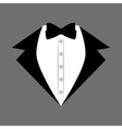 groom suit bowtie wedding icon design graphic vector image