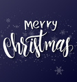 hand drawn lettering - merry christmas - on a vector image