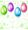 hanging golden easter eggs vector image vector image