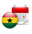 Icon of National Day in Ghana vector image vector image