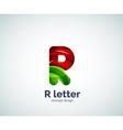 Letter R logo vector image