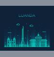luanda skyline angola city linear style vector image