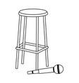Microphone and bar stool flat design