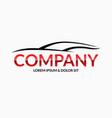 modern car logo design template vector image vector image