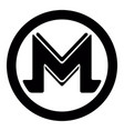 monero virtual money currency cryptocurrency vector image