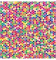 Multicoloured hex tiles Mosaic Eps 10 vector image