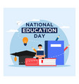 national education day background concept vector image vector image