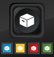 packaging cardboard box icon symbol Set of five vector image vector image