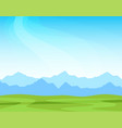 panorama with alpine mountains on a sunny day vector image vector image
