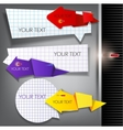 paper arrows on a gray background with place for t vector image vector image