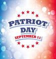 patriot day usa banner vector image vector image