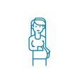 pregnancy linear icon concept pregnancy line vector image