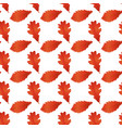 red autumn leaves white background image vector image vector image
