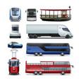 set of public transport vector image